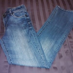 KUT FROM THE KLOTH Whisker Distressed Blue Jeans 2